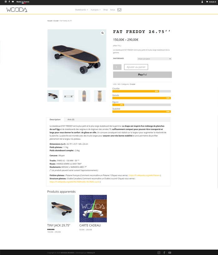 maquette présentation boutique en ligne